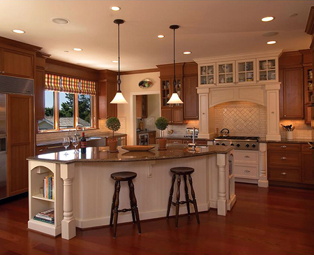 Walnut custom made kitchen cabinets and remodels for Custom made kitchen islands